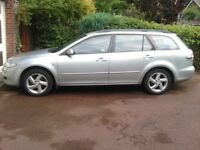 Mazda 6 Estate Silver good tyres and body work immaculate inside Bose HiFi CD player MOT 29.04.2019