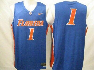 Florida Gators #1 Mens XL Blue Nike Twill Basketball Jersey