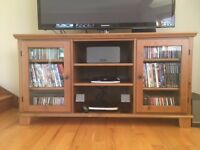 IKEA TV STAND/CABINET WITH SHELVES FOR DVDs and CDs