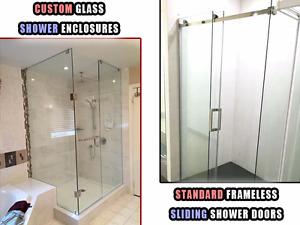 Custom Glass Shower Enclosures / Frameless Sliding Shower Doors