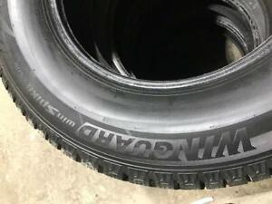245/70R17 Winguard Win Spike Snow tires * used* $600