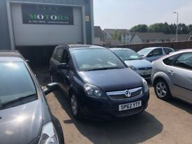 Vauxhall Zafira 1.6, 12 Months MOT, **7-Seater**, New Belt, Warranty