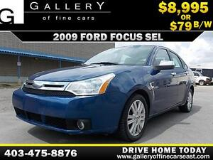 2009 Ford Focus SEL $79 bi-weekly APPLY NOW DRIVE NOW