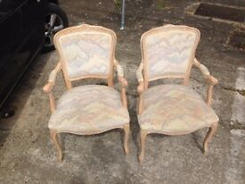 STYLISH, COMFORTABLE PAIR OF ITALIAN STYLE CHAIRS