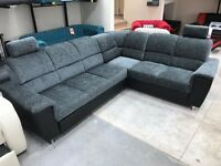 BARGAIN! CORNER SOFA BED-STORAGE-FABRIC-DELIVERY AVAILABLE!