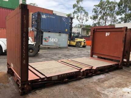 20' Flat Rack Shipping Containers - 2nd Hand - GST Included!