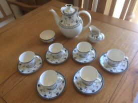 "Royal Doulton ""Cambridge"" Coffee set 15 pieces in perfact condition."