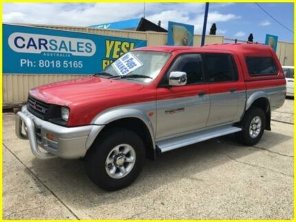 1998 Mitsubishi Triton MK GLS Double Cab Red 5 Speed Manual Utility
