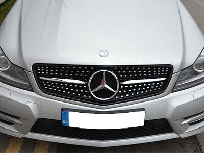 Mercedes W204 C Class C180 C200 C220 C250 C350 Sport grille grill Diamond Look