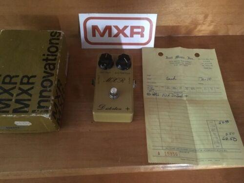 Vintage MXR Distortion+   Script logo with original box and bill.  Randy Rhoads!