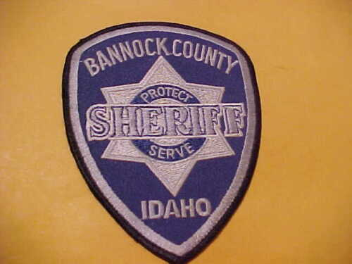 BANNOCK COUNTY IDAHO POLICE PATCH SHOULDER SIZE USED TYPE 2