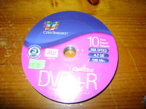BRAND NEW Color Research DVD+R/RW Unopened 10pk London Ontario image 3