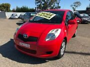 2007 Toyota Yaris NCP90R YR Red 5 Speed Manual Hatchback Cabramatta Fairfield Area Preview