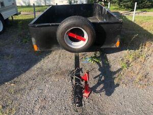 Remorque trailer 5x8 fabriquer extrêmement robuste !