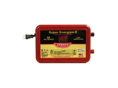 Parmak Se-5 Super Energizer 5 Fence Charger 50 Mile Range 110-120 Volt Ac