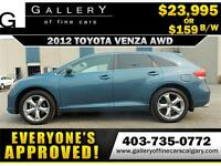 2012 Toyota Venza V6 AWD $159 bi-weekly APPLY NOW DRIVE NOW