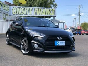 2012 Hyundai Veloster FS2 SR Coupe Turbo Black 6 Speed Manual Hatchback Moorooka Brisbane South West Preview
