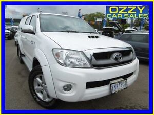 2011 Toyota Hilux KUN26R MY11 Upgrade SR5 (4x4) Glacier White 4 Speed Automatic Dual Cab Pick-up Penrith Penrith Area Preview