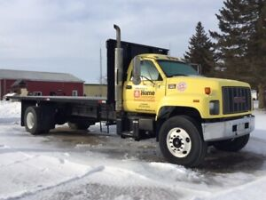 Truck FOR SALE with 22' Flat Deck & Hoist