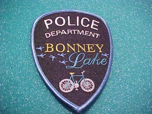 BONNEY LAKE WASHINGTON BIKE UNIT POLICE PATCH SHOULDER SIZE UNUSED