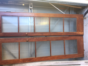 Timber French Door Set with original patterned glass Blackstone Ipswich City Preview