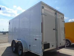 WORK TRAILER -SAVE MONEY ON OUR 2016 HAULIN 7 X 14' WEDGE NOSE London Ontario image 3