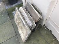 7 x solid stone slabs FREE, collection only