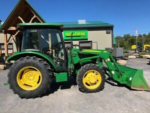 2013 JOHN DEERE 5065E – CAB TRACTOR WITH LOADER – LOW HOURS