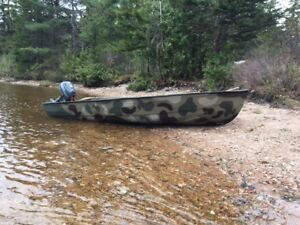 14 Foot Aluminum Boat with 6hp Outboard