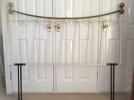 Victorian Style Metal Iron Bedhead Brass for double bed