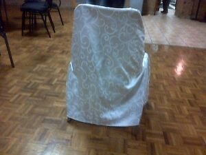 High-Quality White Satin Chair Covers W/Laces- Excellent Shape!! Kitchener / Waterloo Kitchener Area image 5