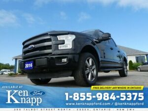 2016 Ford F-150 Lariat- 5.0L- FX4 PKG- PANORAMIC SUNROOF- NAVIGA