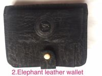 Elephant leather wallet