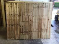🌟 Pressure Treated Feather Edge Timber Fence Panels