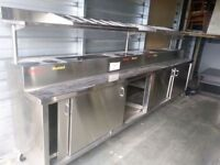 12 ft Stainless steel serving station! Must Sell!SAVE!