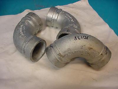 New Gruvlok 2 Fig 7050 90 Deg. Galvanized