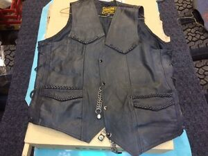 Man's leather vest