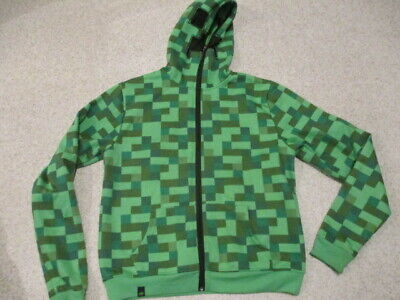 Minecraft green zipped hoodie top youth xl - Minecraft Hoodie Youth