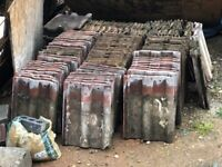 120 Red Concrete Roof Tiles Used FREE TO COLLECT