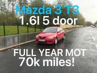 £1150 Mazda 3 T3 1.6l* like focus astra corolla golf mondeo vectra megane passat A3 A4 Note,