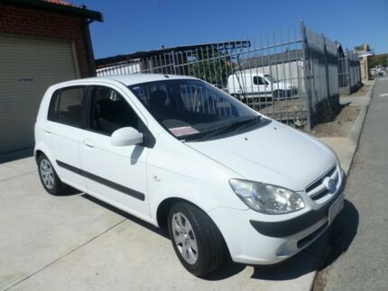 2006 Hyundai Getz TB MY06 White 5 Speed Manual Hatchback Mount Lawley Stirling Area Preview