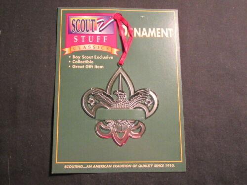 Scout Emblem Silver Christmas Ornament      c34