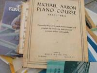 antique music books piano classes from the conservtory of music