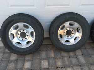 2010 GMC 8 bolt rims and tires for sale