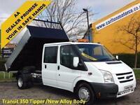 2009/ 59 Ford Transit 115 T350L D/Cab Tipper New Alloy Body [ New Build ] DRW