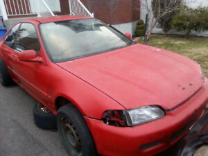 pieces civic coupe 1992 1995