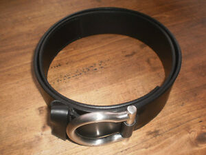 Women's SALVATORE FERRAGAMO D-ring Gancini Belt In Black Leather