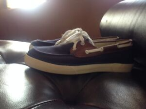 Polo Ralph Lauren Blue Ryder Canvas Boat Shoes