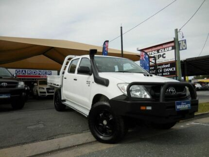 2011 Toyota Hilux KUN26R SR White 5 Speed Manual Dual Cab Southport Gold Coast City Preview