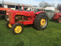 fully restored tractor. Rare diesel 1954 -555 Massey Harris